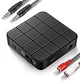 Bluetooth-Adapter, Bluetooth-Sender Empfänger 5.0, 2-in-1-Bluetooth-Adapter Mini Portable Cinch & 3,5 mm AUX-kompatibler HD-Sound mit geringer Latenz für PC, TV, Smartphone, Tablet