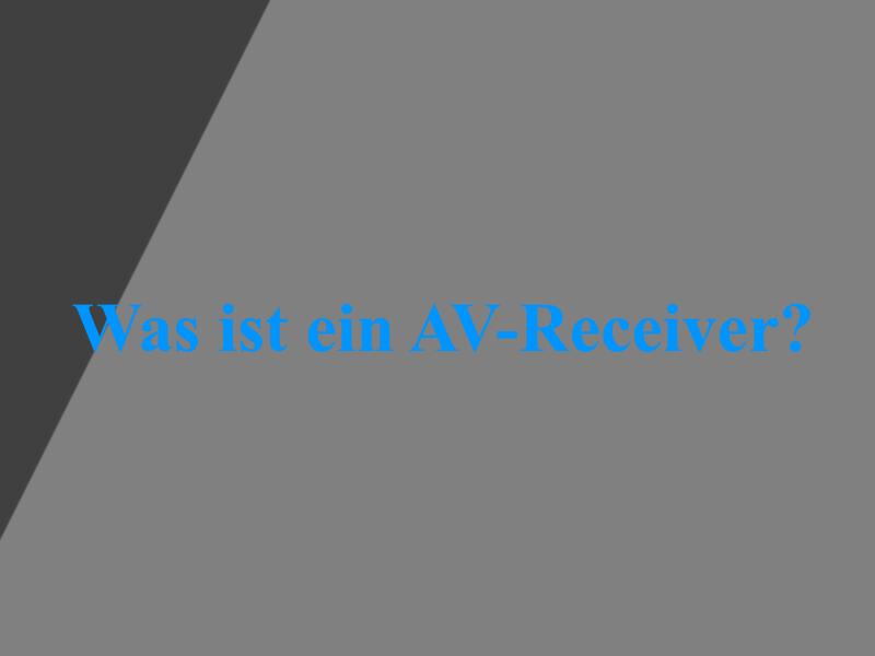A/V-Receiver