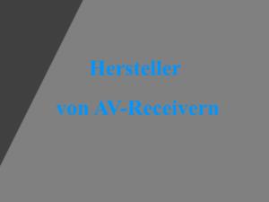 AV-Receiver Marken