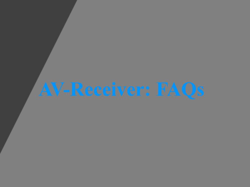 AV-Receiver Vergleich
