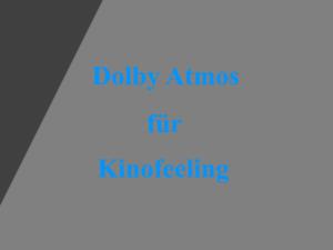 AV-Receiver Dolby Atmos