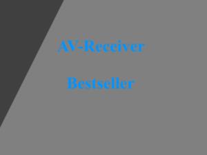 AV-Receiver Bestseller